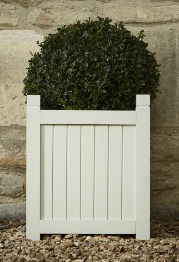 42cm Hardwood Square Versailles Planter in French Grey