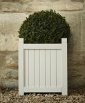 Hardwood Square Versailles Planter in Ivory W36cm x H42cm