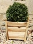 44cm Acacia Hardwood Tapered Cube Planter