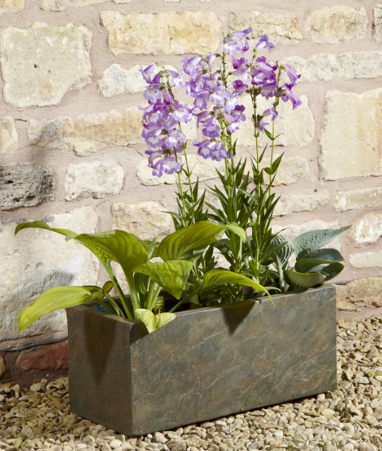 70cm Fibrecotta Trough in Natural Slate Finish