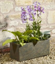 60cm Fibrecotta Trough in Natural Slate Finish