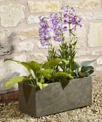 Fibre Clay Trough in Natural Slate Finish - W50cm x H23cm