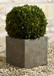 30cm Fibre Clay Cube in Natural Slate Finish