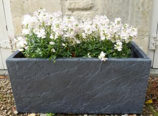 60cm Fibrecotta Trough in Dark Slate Finish