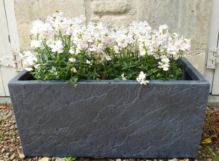 60cm Fibre Clay Trough in Dark Slate Finish