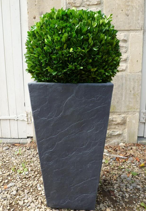 Fibrecotta Tall Planter In Dark Slate Finish H61cm X W33cm 163 79 99