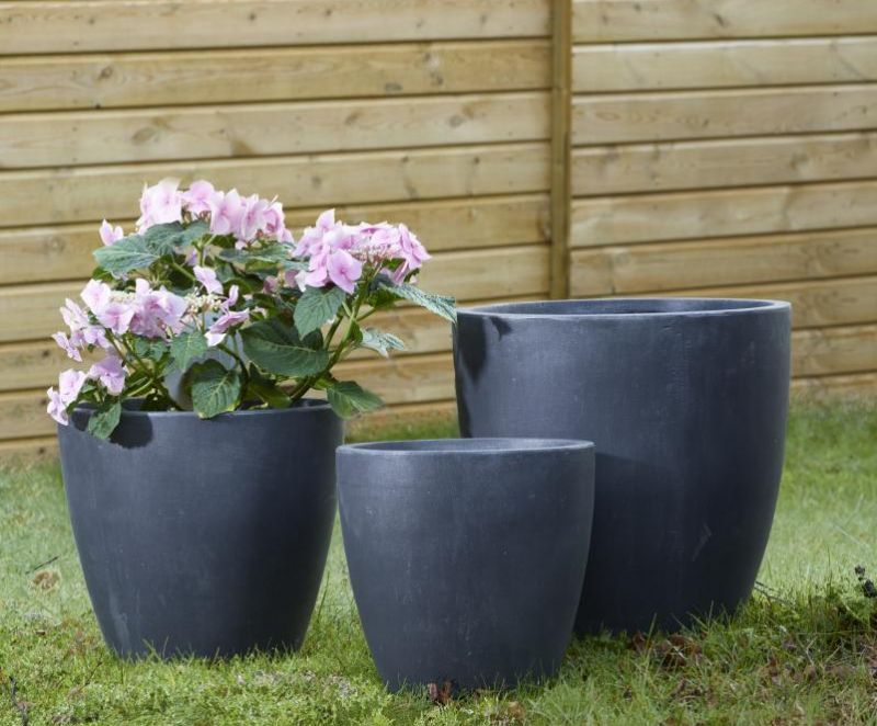 Fibre Clay High Round Planter - D38cm x H35cm