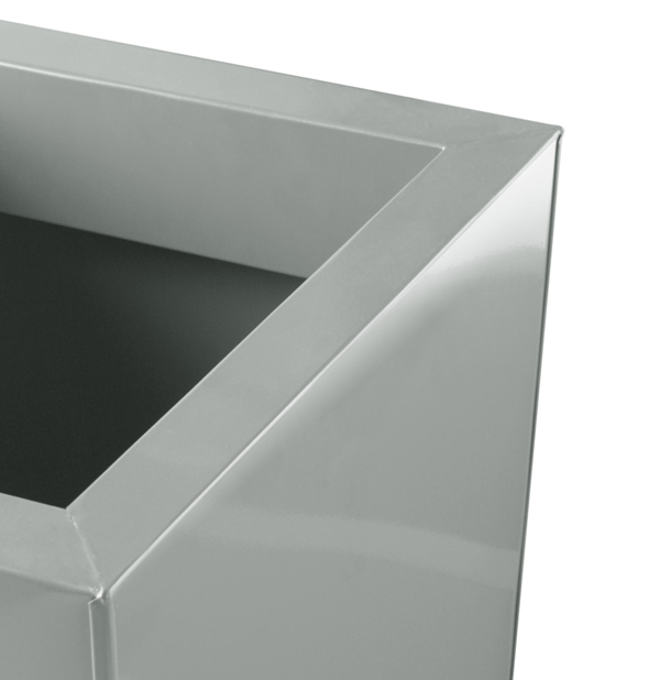 H90cm Heritage Grey Flared Square Planter - By Primrose®