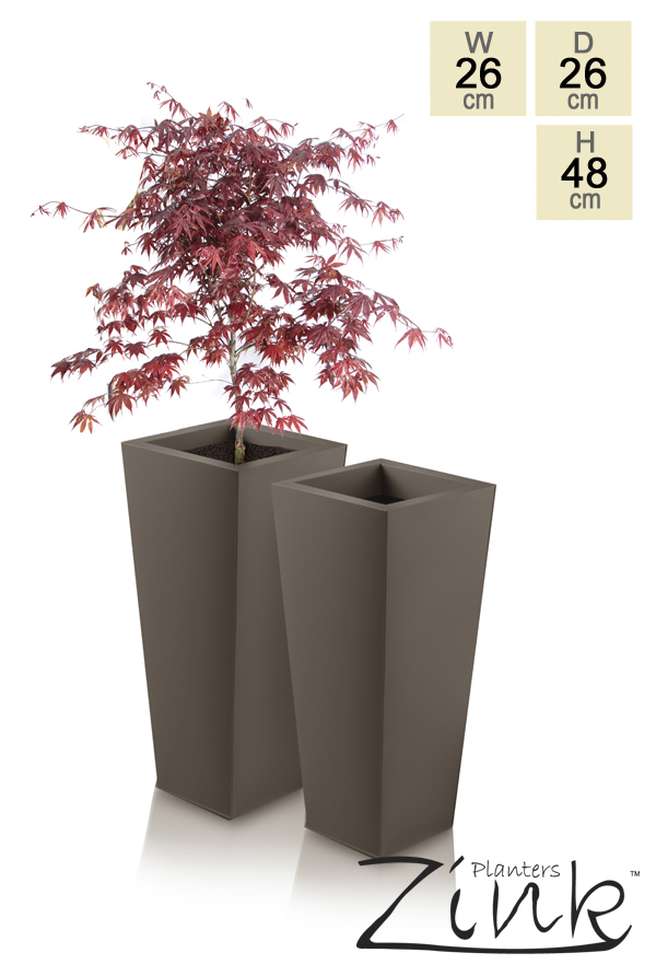 H48cm Heritage Truffle Flared Square Planter - By Primrose®