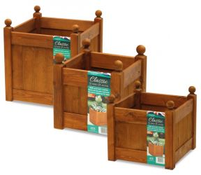 43cm Timber Beech Stain Classic Planter