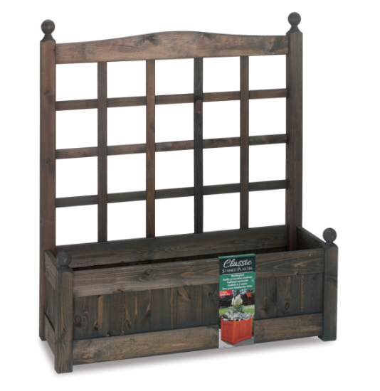 100cm Timber Chestnut Stain Classic Planter Climber