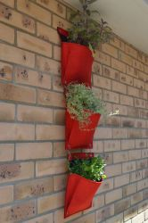 Living Wall Herb Planters 3 Piece Set - Red