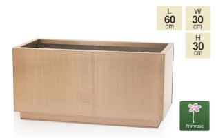 L60cm Zinc Galvanised Kick-Bottom Trough Planter in Copper by Primrose™
