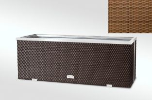 108cm x 43cm Polyrattan Trough planter In Honey