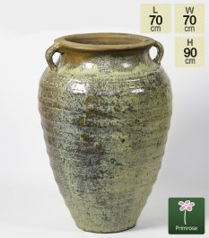 Ceramic Watercolour Washed Earth Toned Classic Urn Planter, H90cm