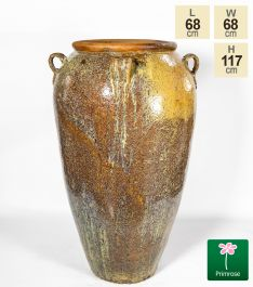 Large Ceramic Earth Tone Washed Urn Planter, H117cm