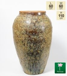 Large Ceramic Watercolour Textured Urn Planter, H110cm