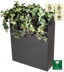 H90cm Zinc Tall Trough Planter with Insert - By Primrose®