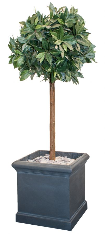 H47cm Blenheim Lead Effect Cube Planter - By Terra Pot™