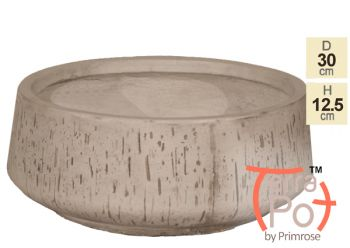 Dia30cm Fleetwood Grey Stone Effect Round Planter - By Terra Pot™