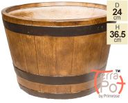 Dia36.5cm Clevedon Barrel Planter - By Terra Pot™