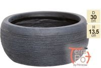 Dia30cm The Floyd Black Slate Effect Round Planter - By Terra Pot™