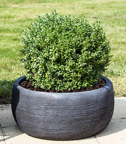 Dia30cm The Floyd Black Slate Effect Round Planter - By Terra Pot�