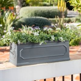 L61cm Kensington Lead Effect Framed Trough Planter - By Terra Pot™