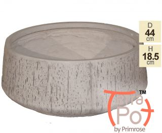 Dia44cm Fleetwood Grey Stone Effect Round Planter - By Terra Pot™