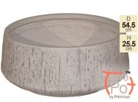 Dia54.5cm Fleetwood Grey Stone Effect Round Planter - By Terra Pot™