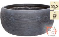 The Floyd Black Slate Effect Round Planter by Terra Pot™ - H26cm x Dia55.5cm