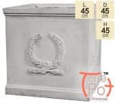 Windsor White Stone Effect Cube Planter by Terra Pot™ - H45cm x W45cm