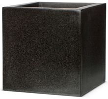 50cm Poly Resin Black Cube Planter