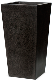 Poly Resin Tapered Planter  I L24W24H46 BLK