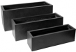Poly Resin Rectangular Planter� Low III L100W40H40 BLK