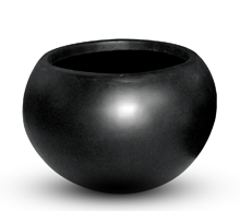 Poly Resin Vase ball Planter II 62x48 BLK