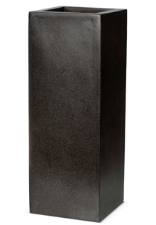 Poly Resin Rectangular Planter in Black - 25 x 67cm
