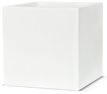 Poly Resin Square Planter 20cm Cube in White