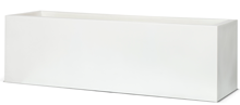 Poly Resin Low Rectangular Planter I 73x21x21 WHI