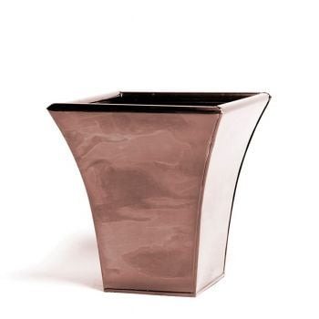 23cm Zinc Flared Square Metal Planter