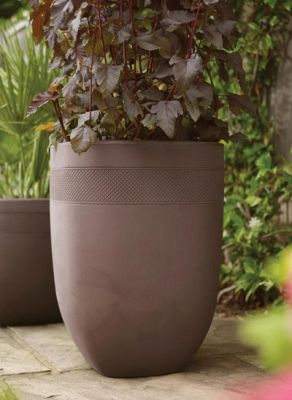 Decorative Aztec Dark Brown Planter - H52cm x W38cm by Stewart™