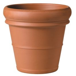 76cm Terracotta Verona Rolled Rim Planter