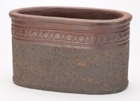 Imperial Old Stone Terracotta Trough Planter - H29cm x L50cm