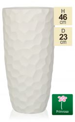 H46cm White Golf Finish Fibrecotta Cylinder Planter - by Primrose®
