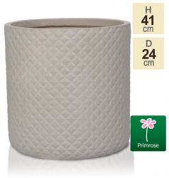 H41cm Sand Pineapple Finish Fibrecotta Cylinder Planter - by Primrose™