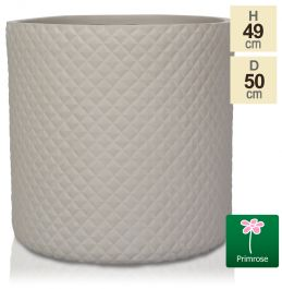 H49cm Sand Pineapple Finish Fibrecotta Cylinder Planter - by Primrose™
