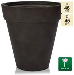 H46cm Anthracite Smooth Finish Fibrecotta Cone Planter - by Primrose™