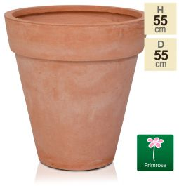 H55cm Terracotta Smooth Finish Fibrecotta Cone Planter - by Primrose™