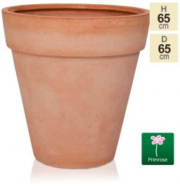 H65cm Terracotta Smooth Finish Fibrecotta Cone Planter - by Primrose™