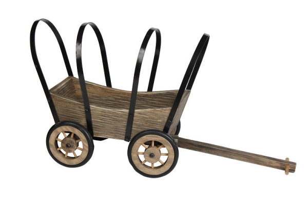 H30 x W54cm Pine Ornamental Cart Planter